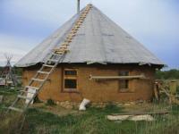Саманный домик в Родном  сентябрь 2005г Rodnoe.info